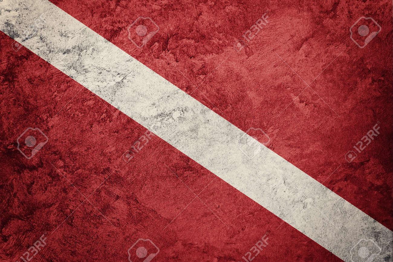 Vintage style scuba flag. Diver down flag. - 78499083