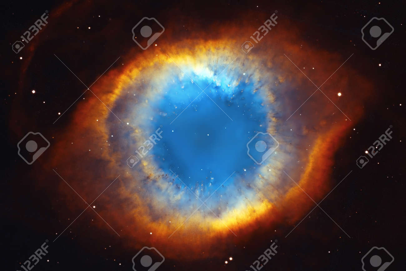 The Helix Nebula or NGC 7293 in the constellation Aquarius. Elements of this image are furnished by NASA. - 82963690