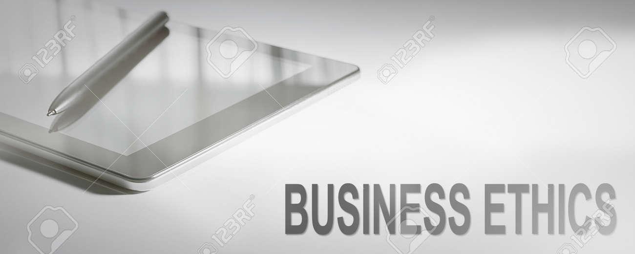 BUSINESS ETHICS Business Concept Digital Technology. Graphic Concept. - 91610893