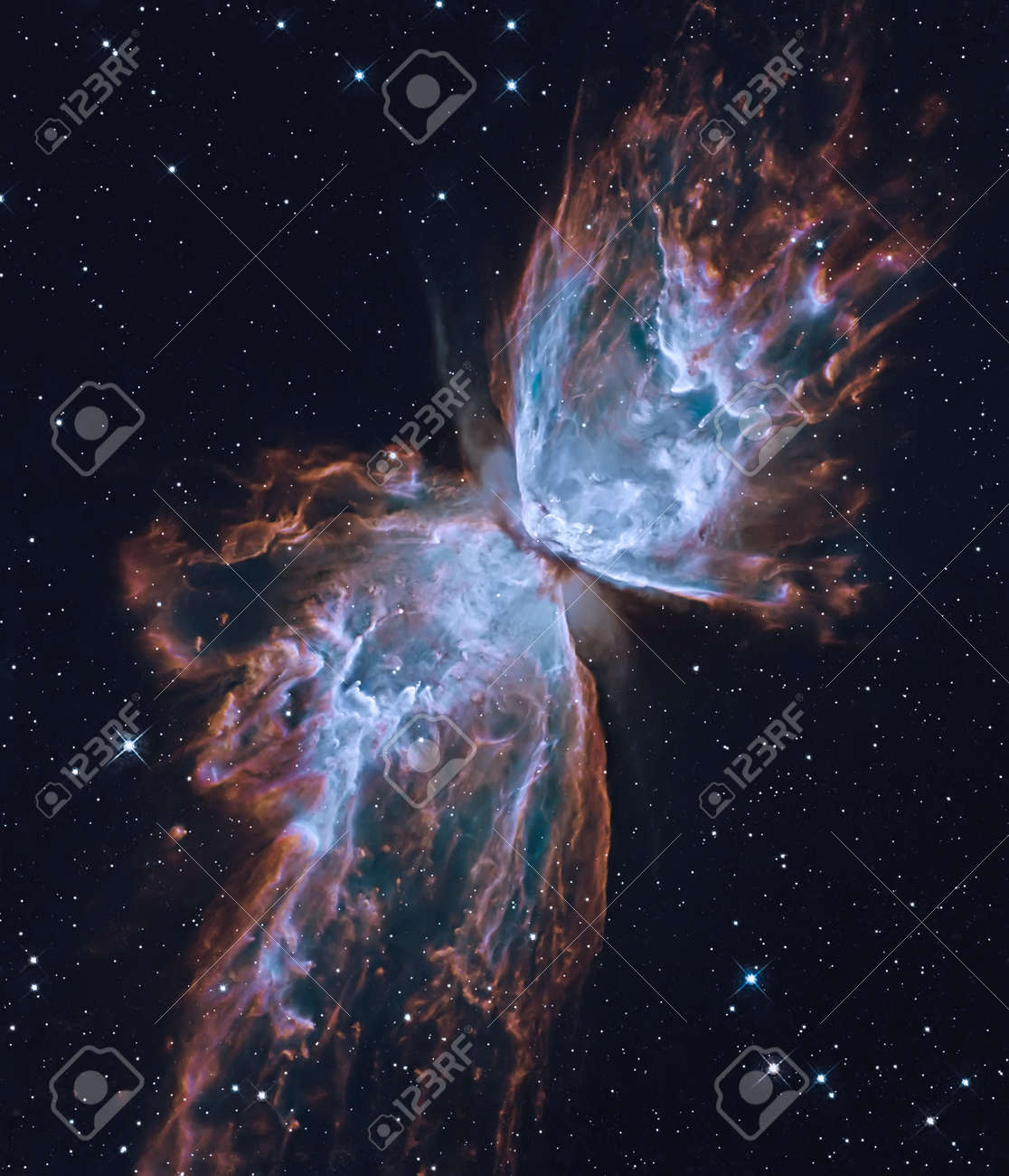 The Butterfly Nebula. Retouched image. - 95890272