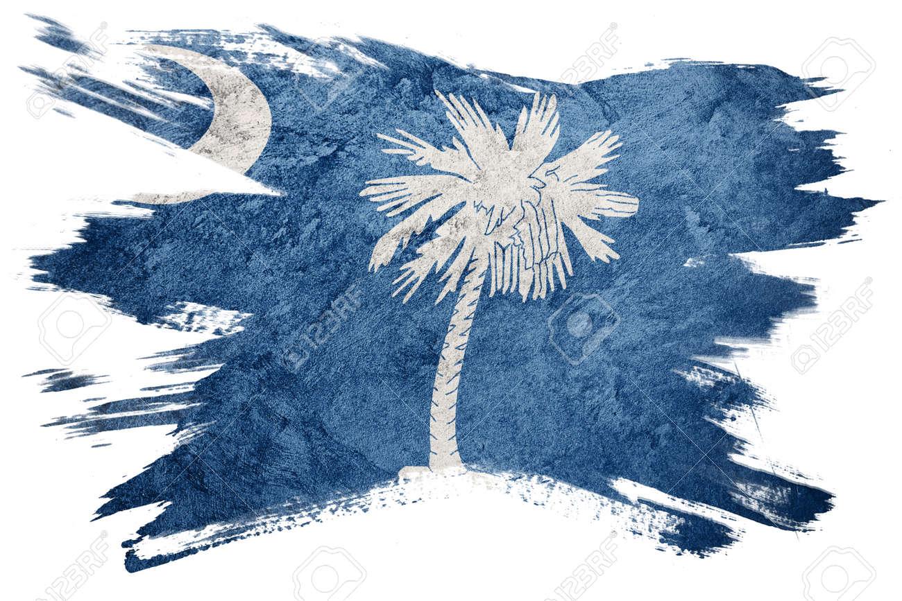 Grunge South Carolina state flag. South Carolina flag brush stroke. - 103738724