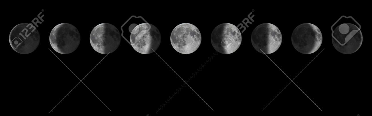 Phases of the Moon.Lunar cycle. - 133228972