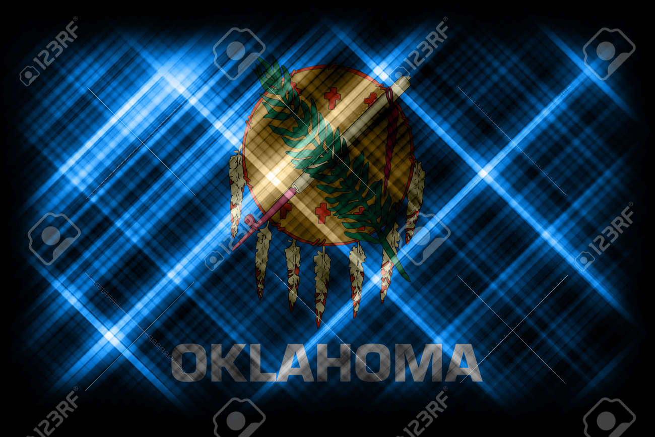 Oklahoma state flag, Oklahoma flag background modern flag - 170569888