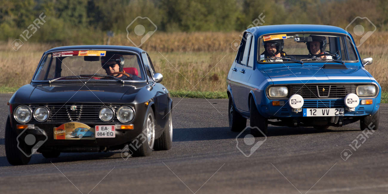 Circuito Nogaro : Nogaro france october two old cars side by side on a
