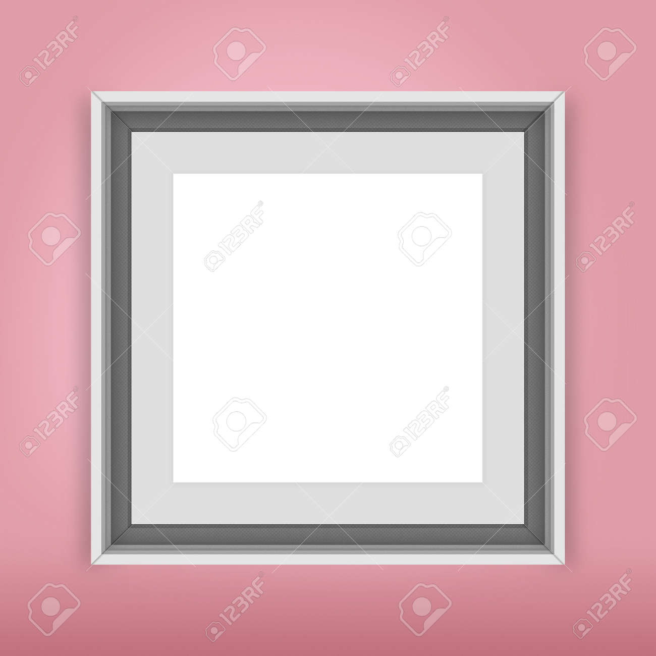 The Modern Frames On The Soft Pink Wall Stock Photo, Picture And ...