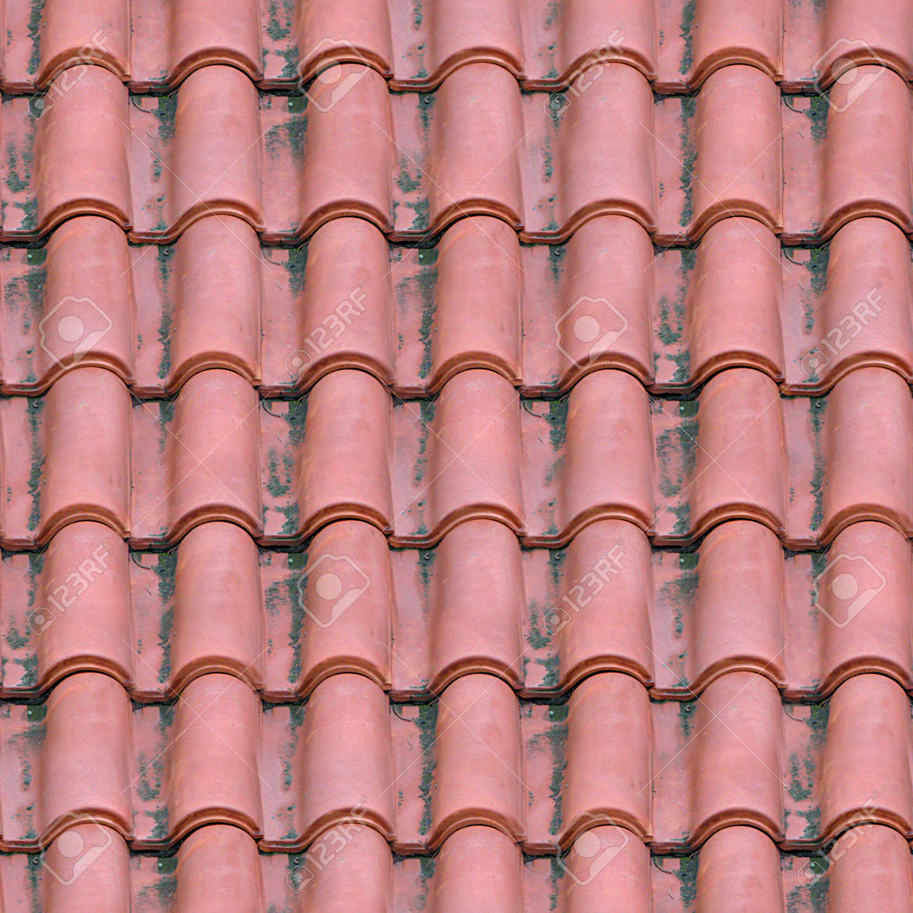 Spanish Tile Roofing Seamless Texture Tile Stock Photo Picture And Royalty Free Image Image 13102646