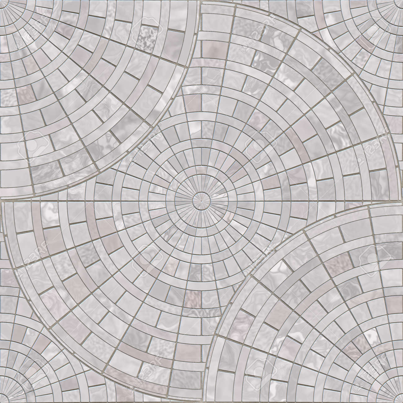 radial mosaic pavers seamless texture tile stock photo picture and