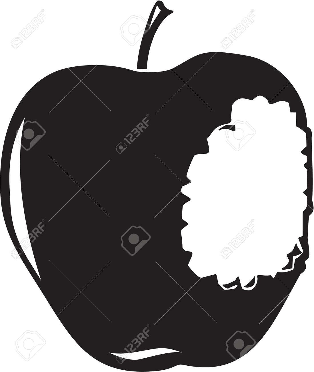 Apple Bitten Stock Vector - 13323449