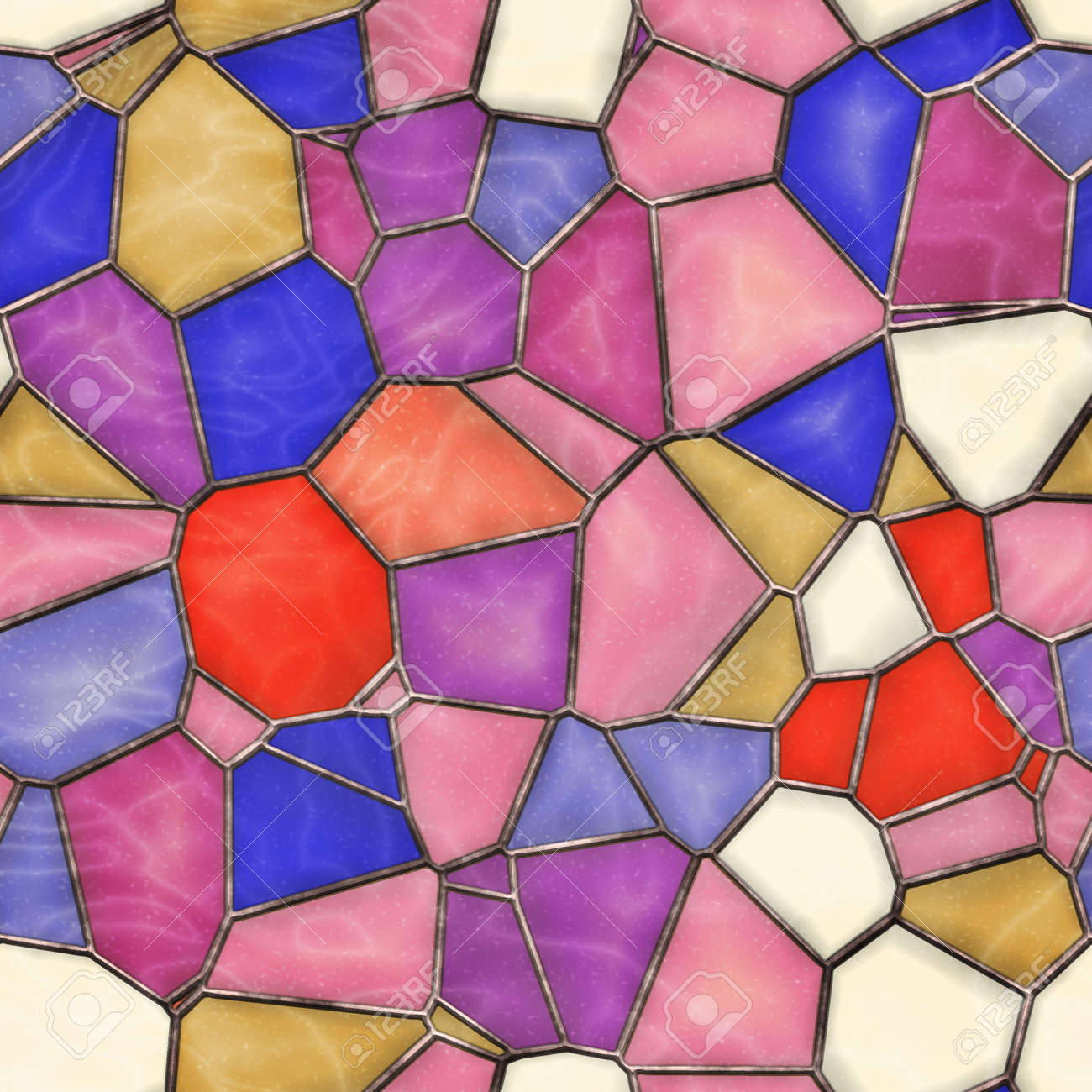 Stained Glass Seamless Texture Tile Stock Photo Picture And