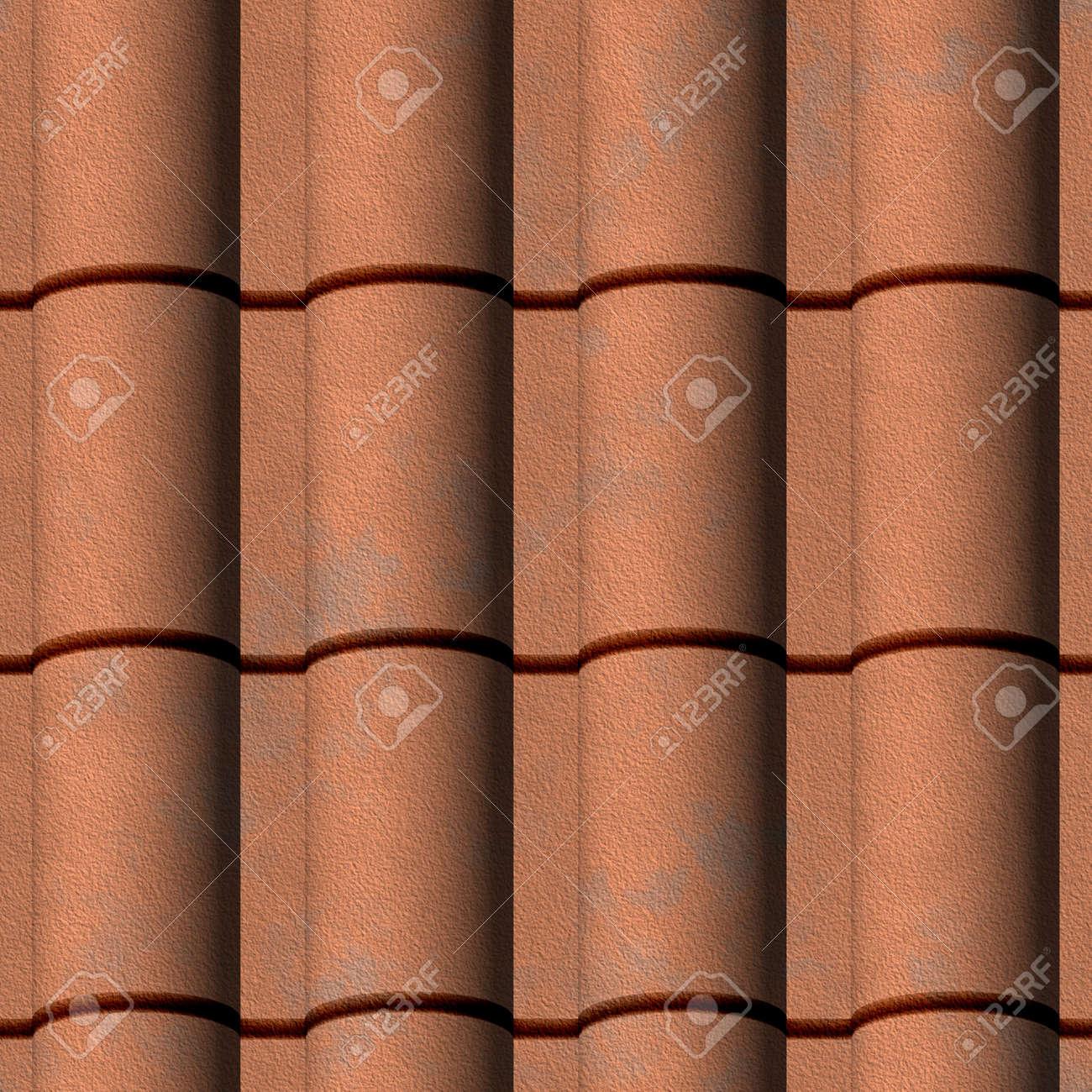 Spanish Tile Roofing Seamless Texture Tile Stock Photo   13949157