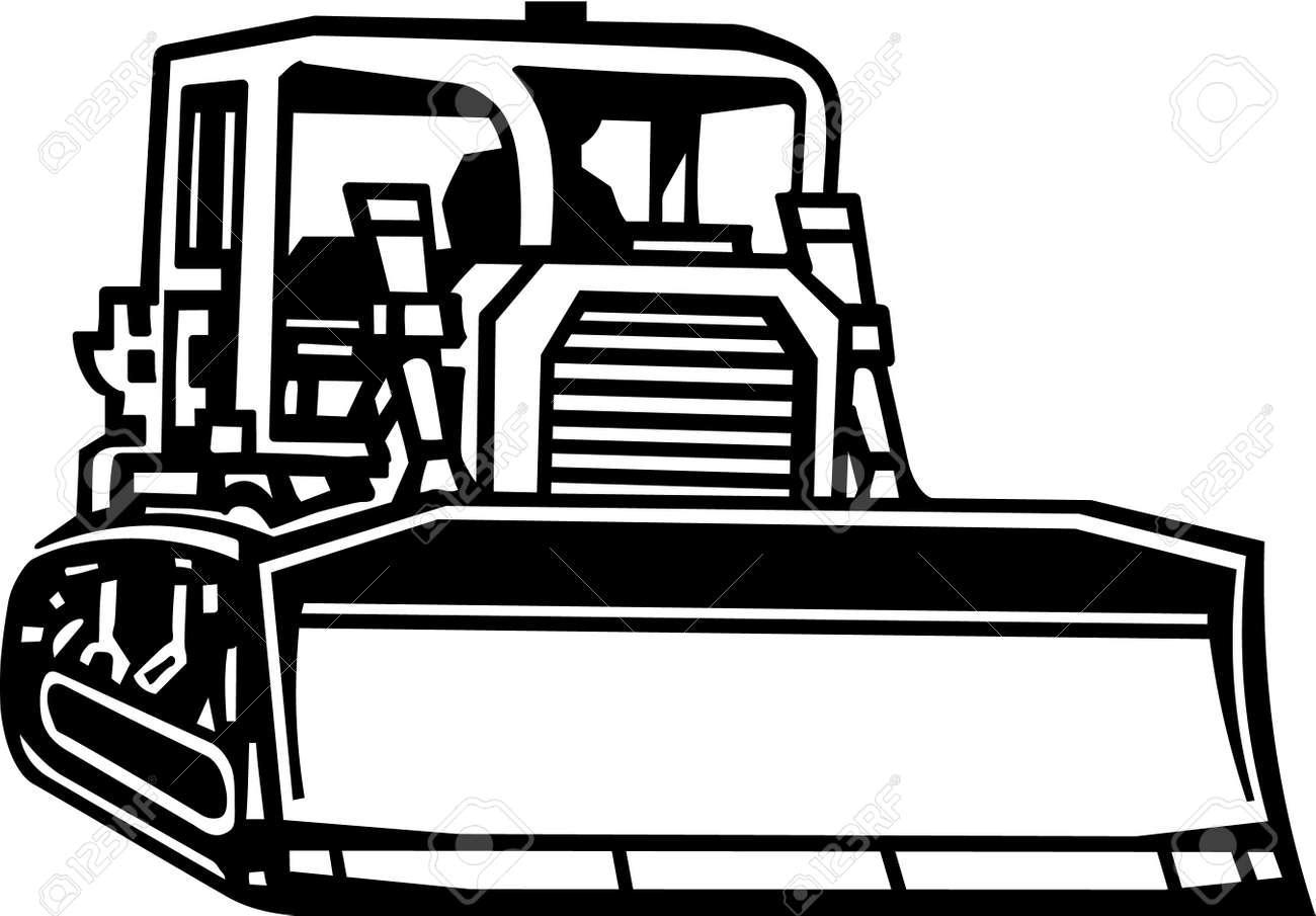 bulldozer vinyl ready royalty free cliparts vectors and stock rh 123rf com cat dozer clipart caterpillar dozer clipart