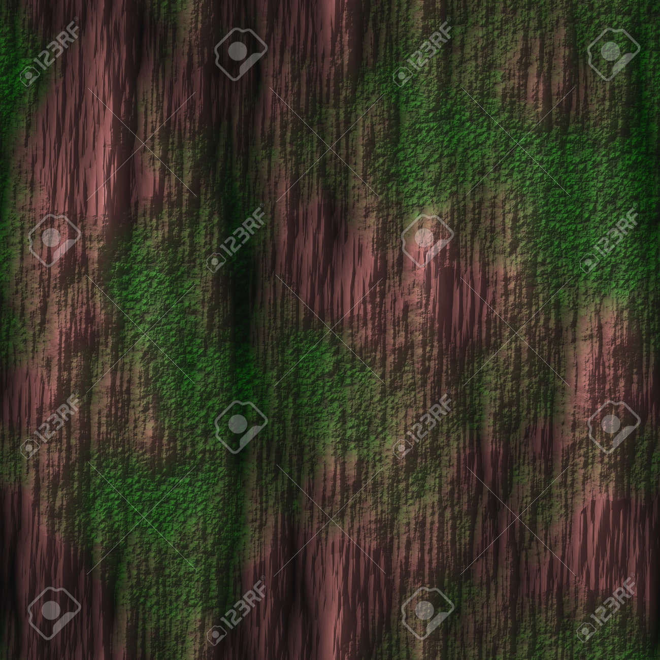 Tree Bark with Moss Seamless Texture Tile Stock Photo - 14024923