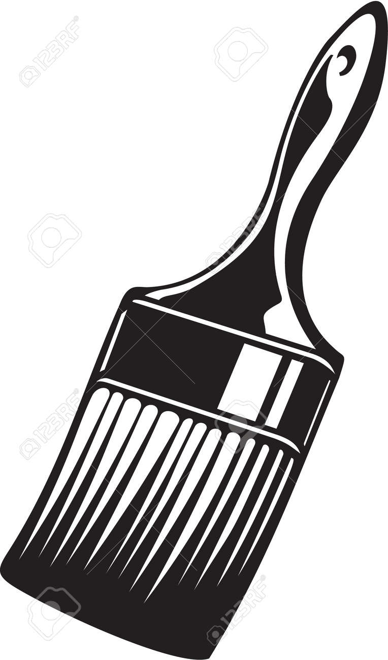 paint brush vinyl ready vector illustration royalty free cliparts rh 123rf com paint brush vector free brush vector illustration paint