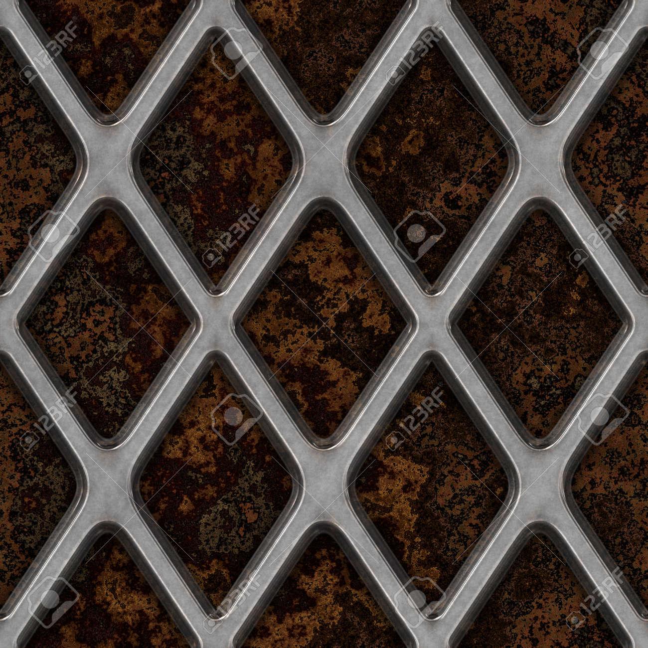 Grate on Granite Seamless Texture Tile Stock Photo - 14215911