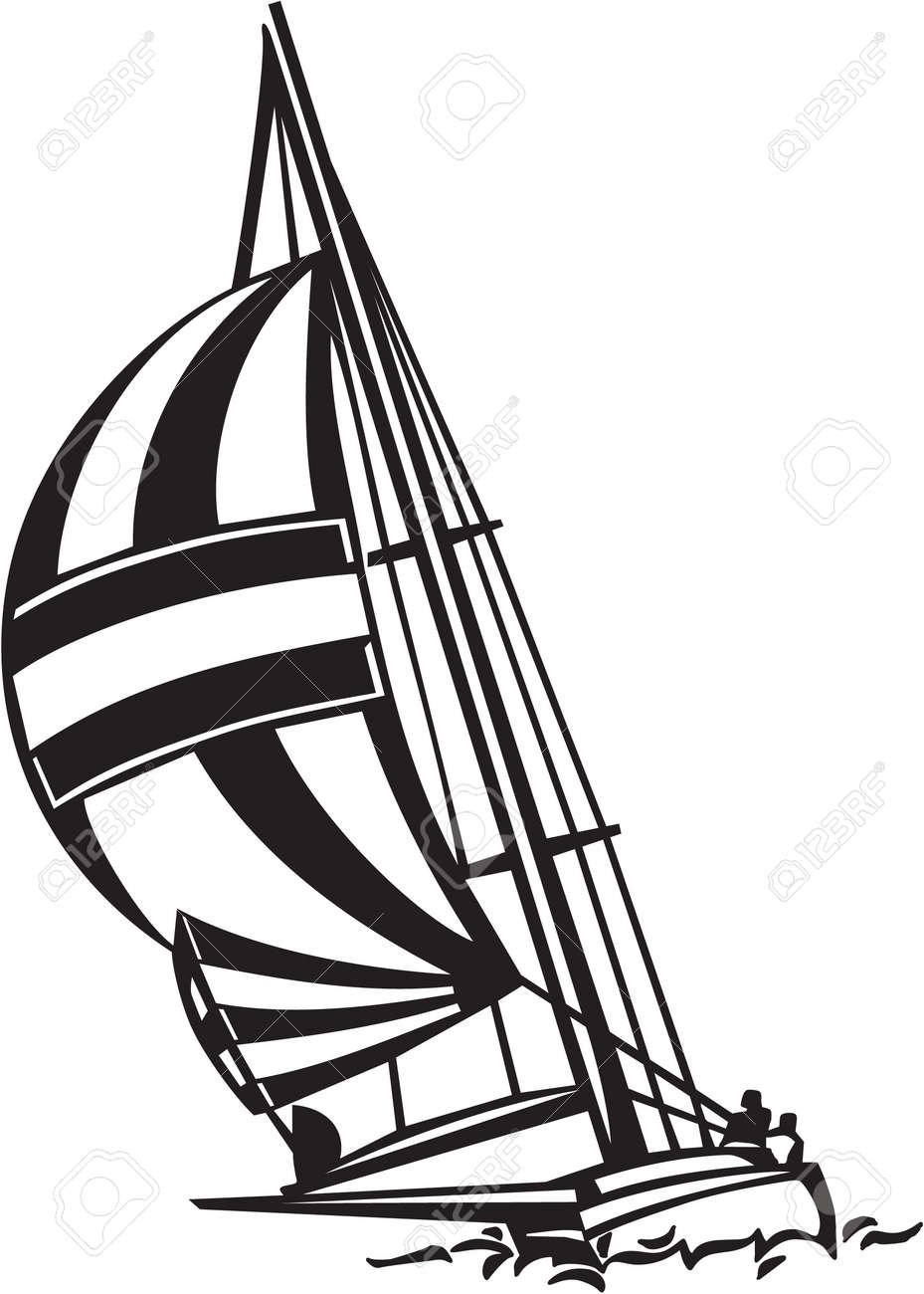 Sailboat Vinyl Ready Illustration Stock Vector - 14353842