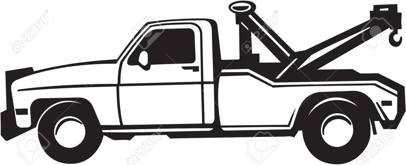 tow truck vinyl ready illustration royalty free cliparts vectors rh 123rf com tow truck hook vector tow truck vector free download