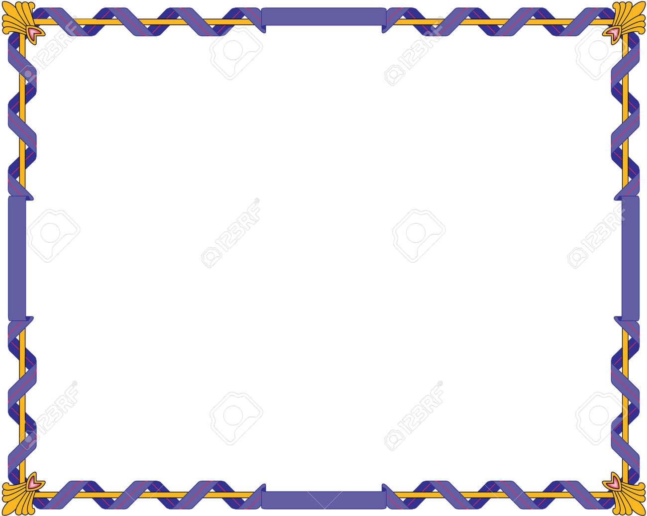 e0245597273 Regal Border Illustration. Royalty Free Cliparts