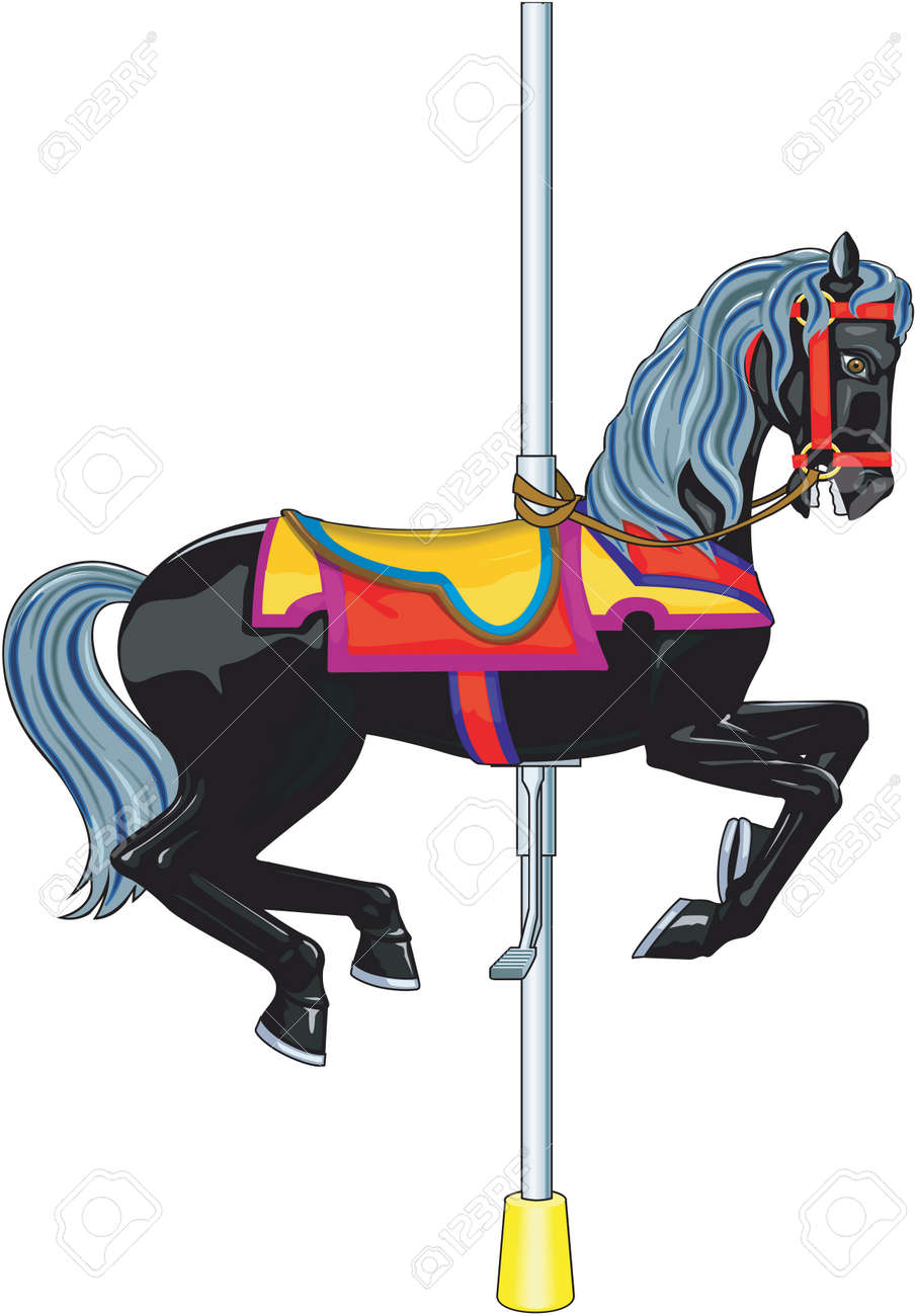 Carousel Horse Illustration Royalty Free Cliparts Vectors And Stock Illustration Image 84436893