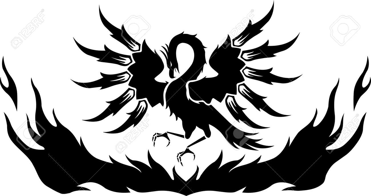 Phoenix Rising from Flames Illustration - 85864668