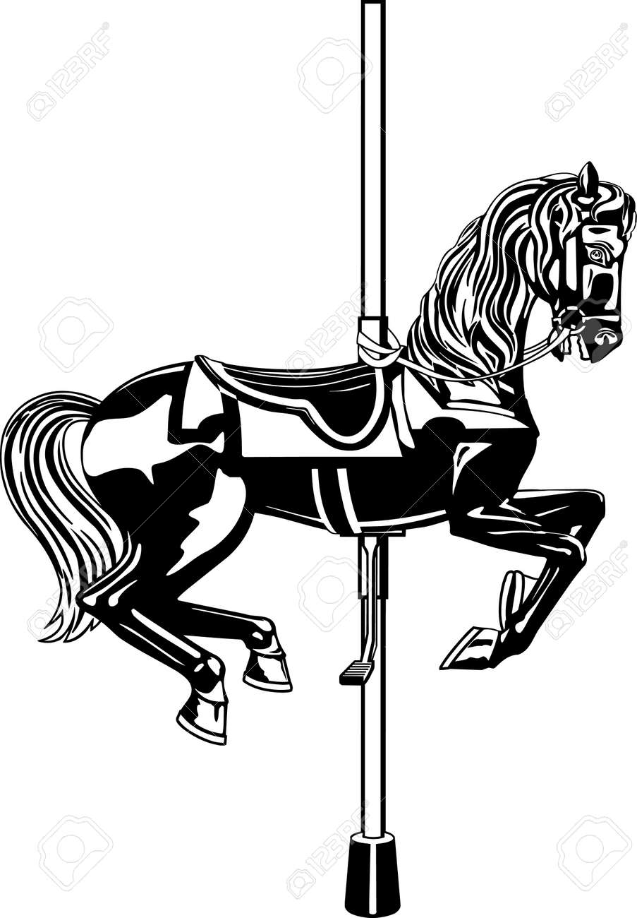 Carousel Horse Illustration Royalty Free Cliparts Vectors And Stock Illustration Image 86300568