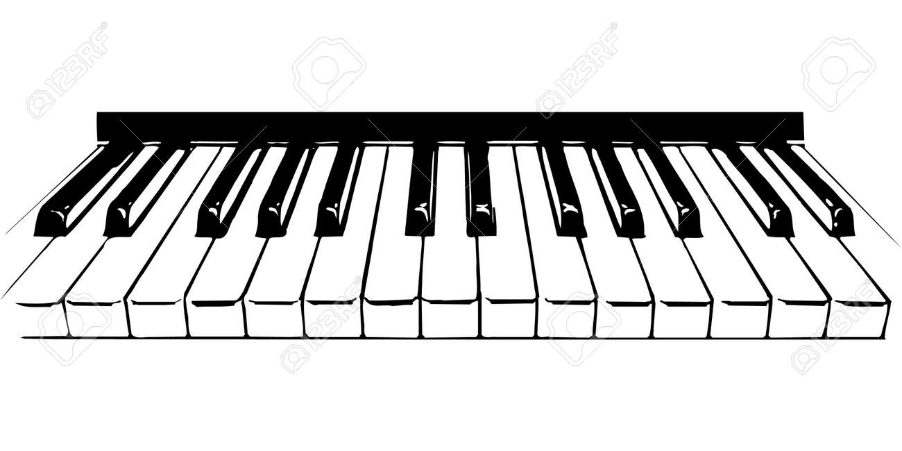 Piano Keys Illustration Stock Vector