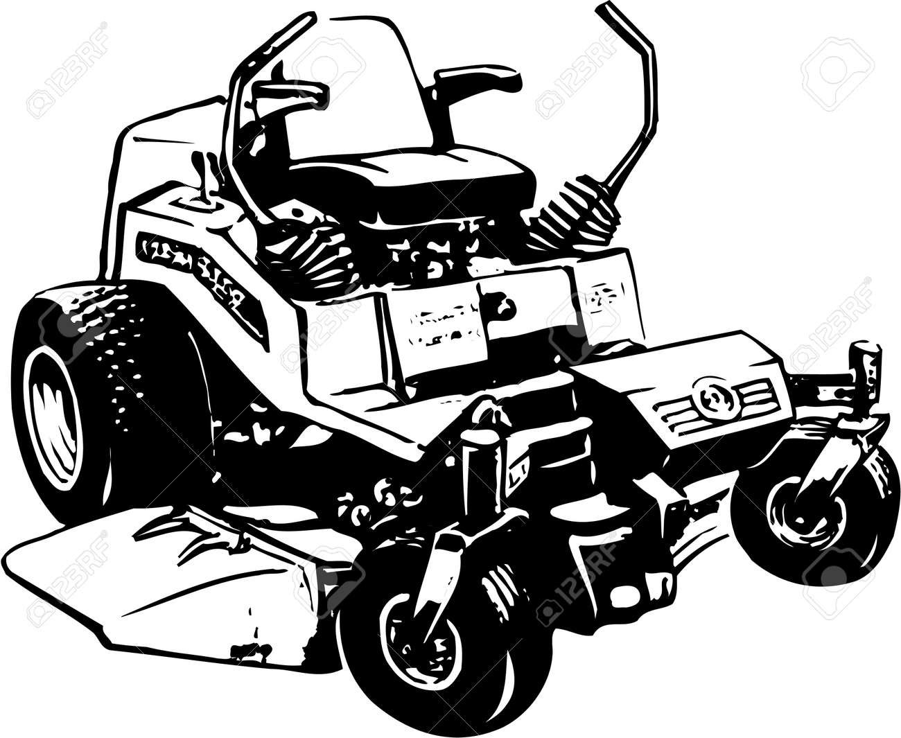 Lawn Mower Illustration On White Background Royalty Free Cliparts Vectors And Stock Illustration Image 87773449