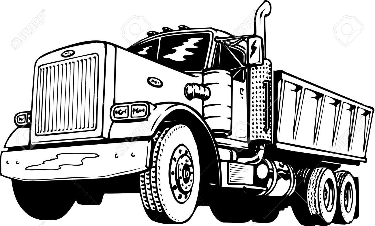 dump truck illustration royalty free cliparts vectors and stock rh 123rf com dump truck clip art black white dump truck clipart images free