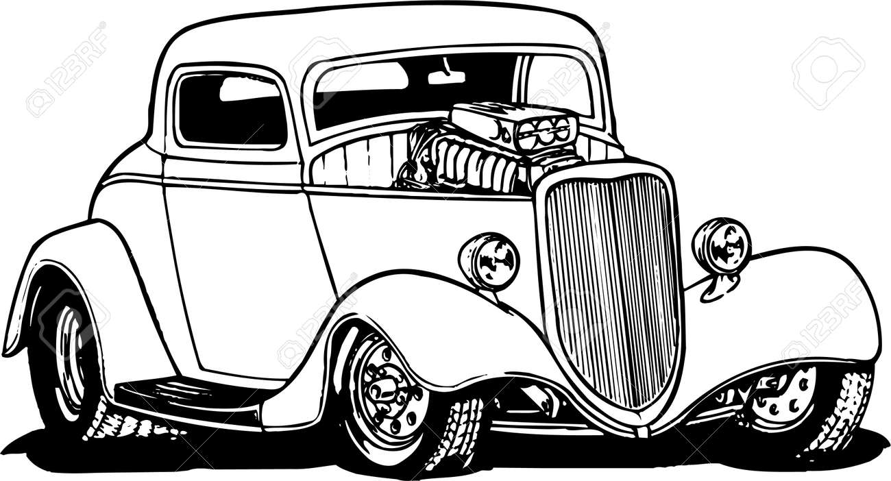 Hot Rod Illustration Royalty Free Cliparts, Vectors, And Stock ...