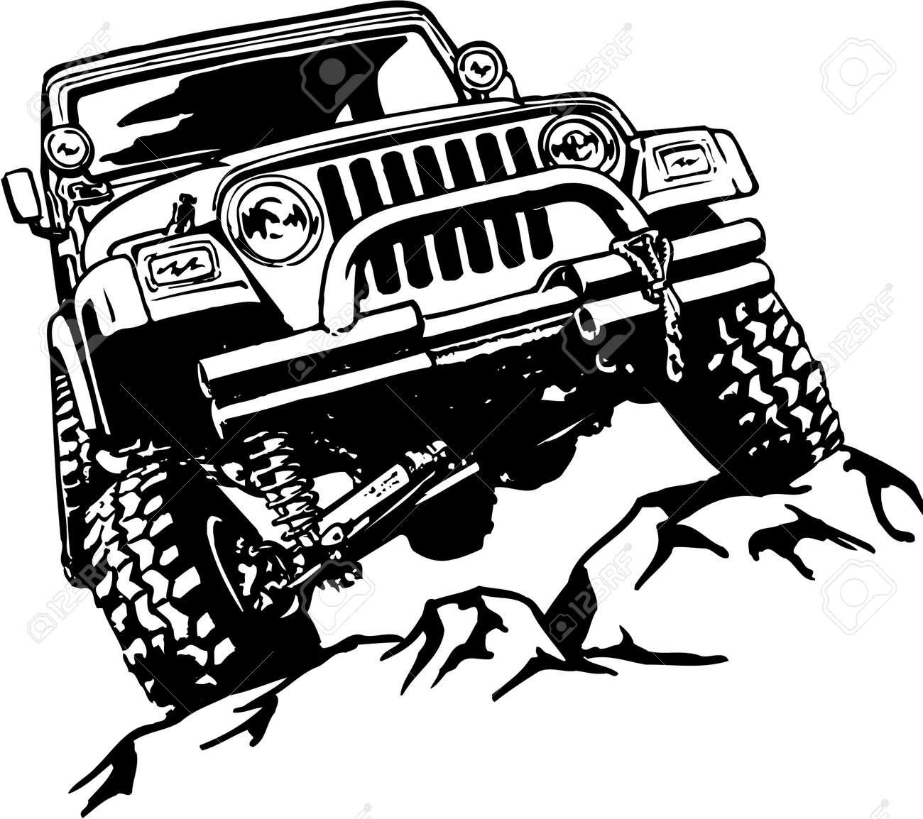 Truck Climbing Illustration - 87860863