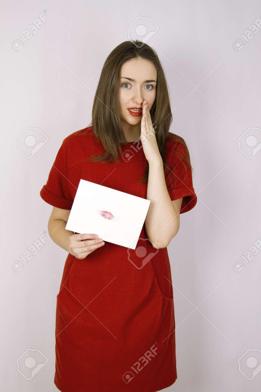 Woman sending big kiss Stock Photo - 12017587