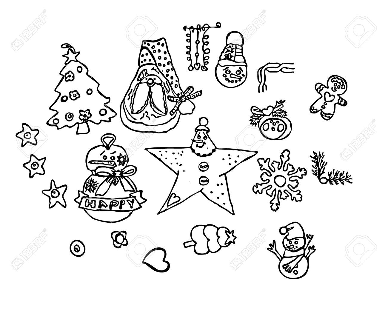 holiday drawings simple vector for christmas days happy favorite royalty free cliparts vectors and stock illustration image 106950003 123rf com