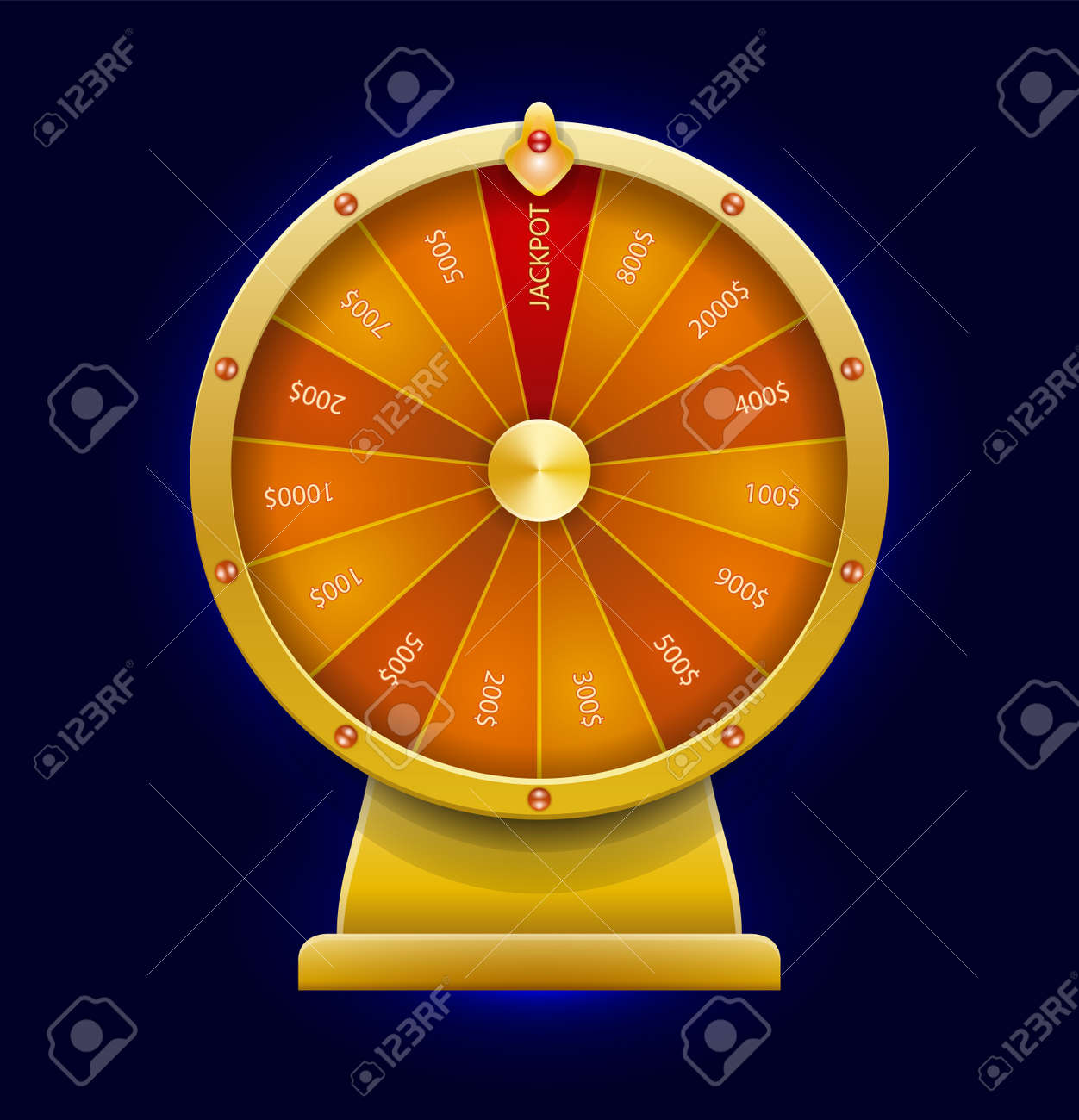 Spinning Wheel Of Fortune Money Win Casino Game 3d Realistic