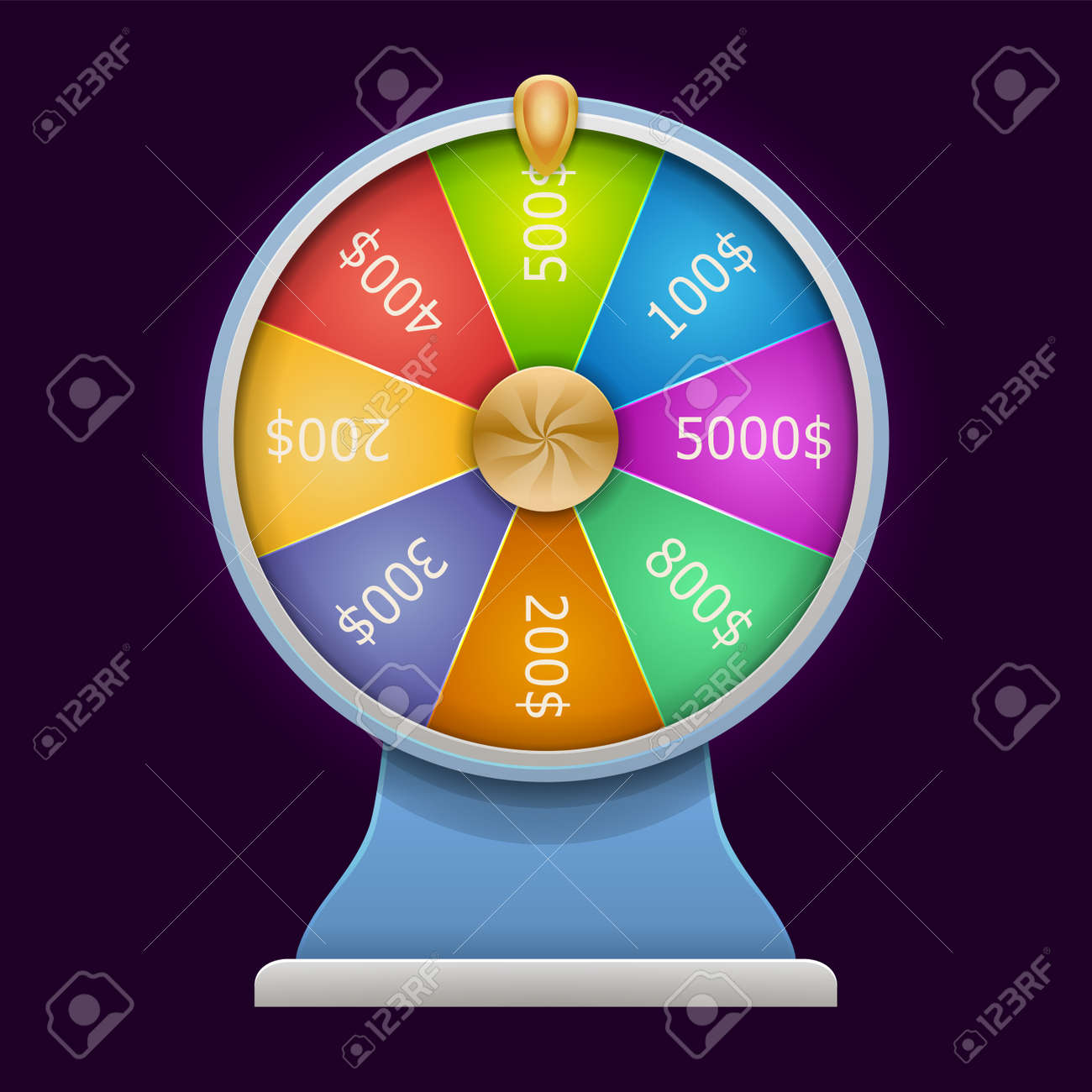 Spinning Wheel Of Fortune Money Win Casino Game 3d Realistic Royalty Free Cliparts Vectors And Stock Illustration Image 84818809