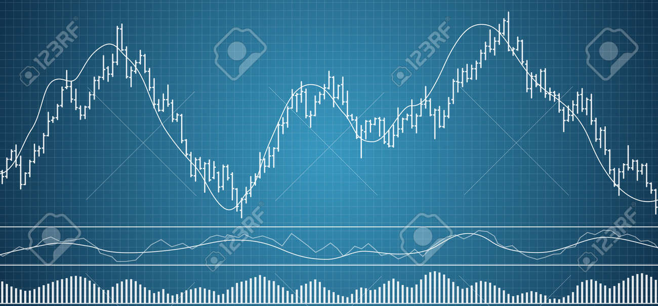 Bar financy data graph. Forex stock crypto currency data visualization. Set of various indicators for financial trade. Bar data background. Vector illustration. - 102551651