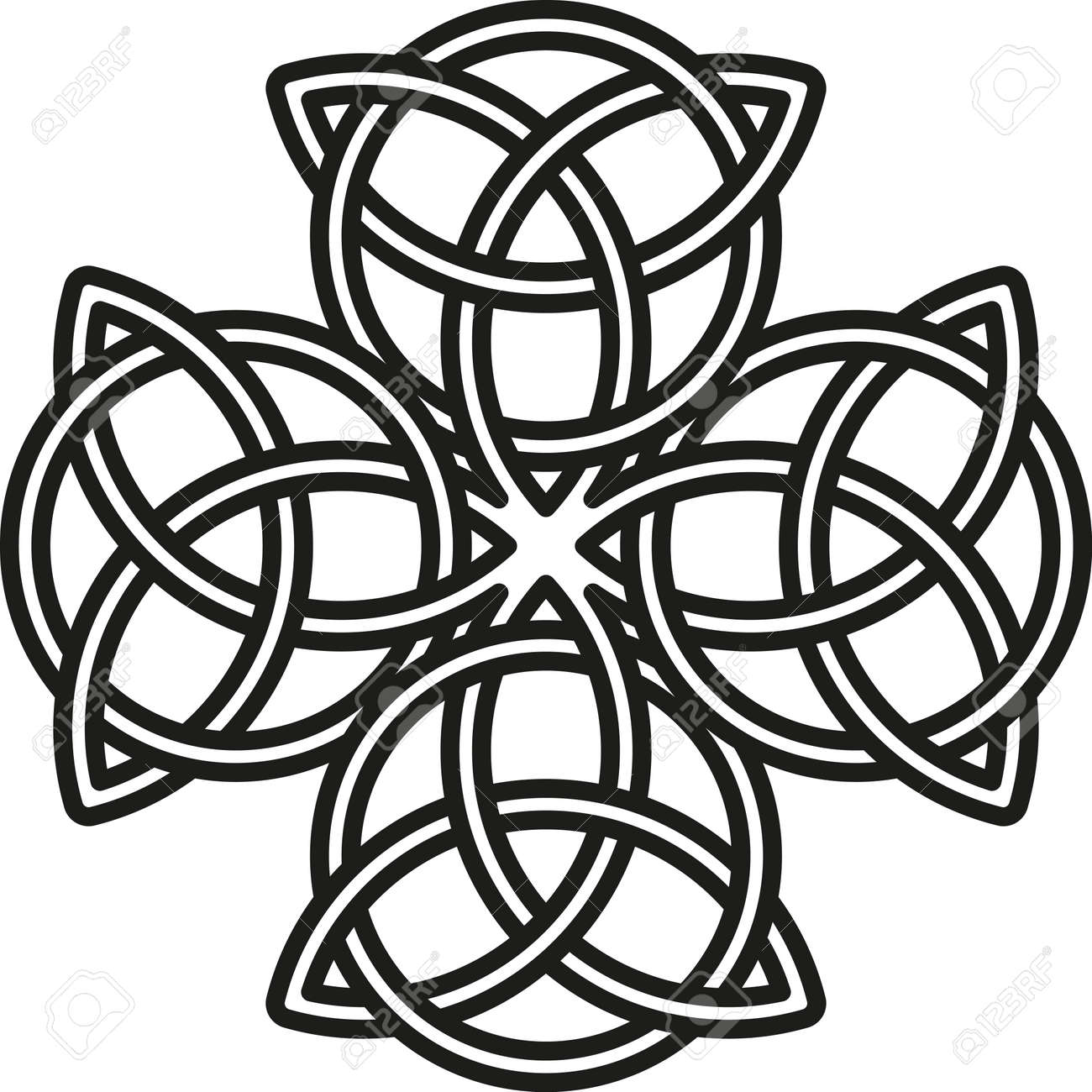 celtic cross the stylized image of a clover element of rh 123rf com celtic cross vector image vector celtic cross meaning