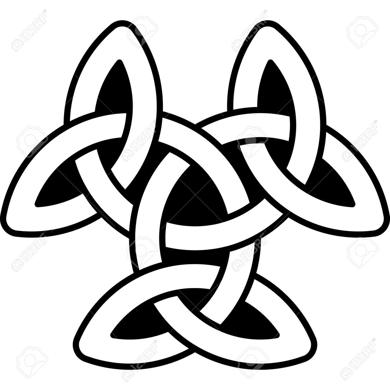 Monochrome Celtic Pattern Pattern For Scandinavian Or Celtic