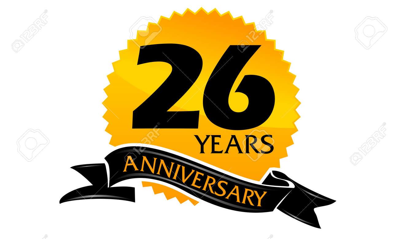 26 Years Ribbon Anniversary - 75937995