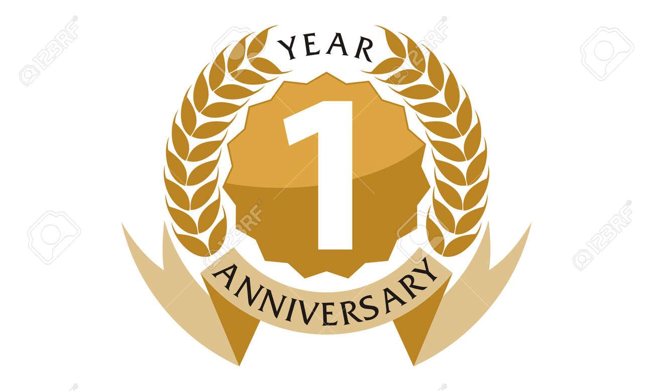 1 Years Ribbon Anniversary - 76191768
