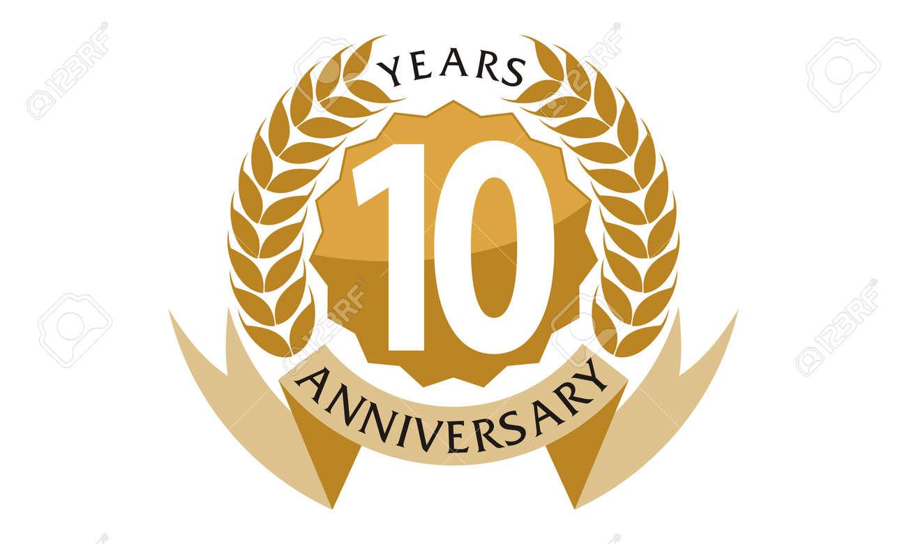 10 Years Ribbon Anniversary - 76191949