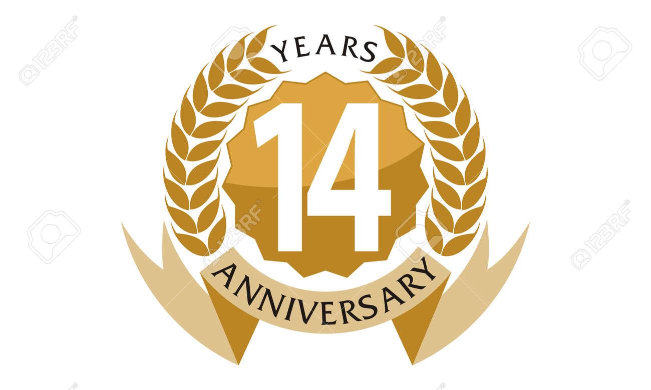 14 Years Ribbon Anniversary Royalty Free Cliparts Vectors And