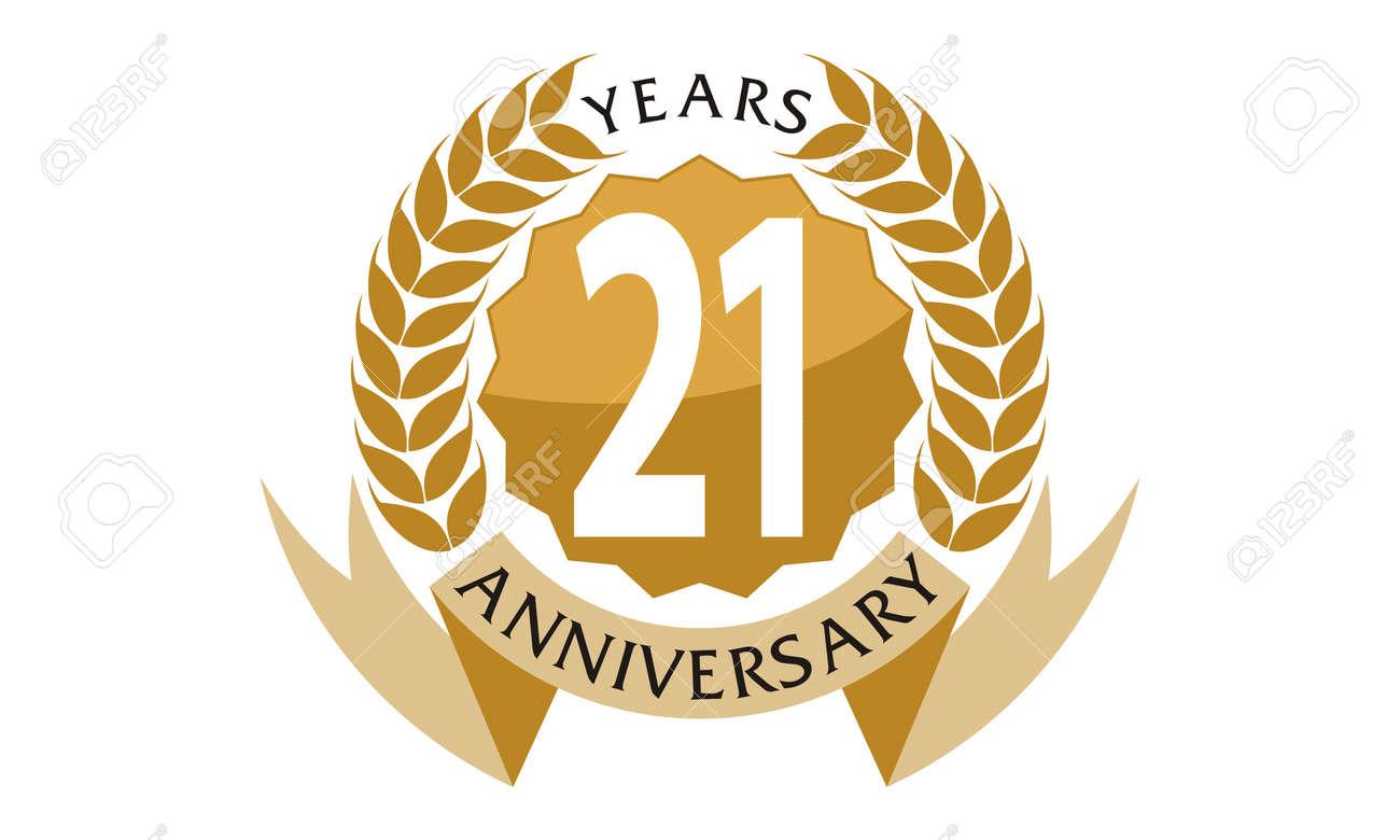 21 Years Ribbon Anniversary - 76240968