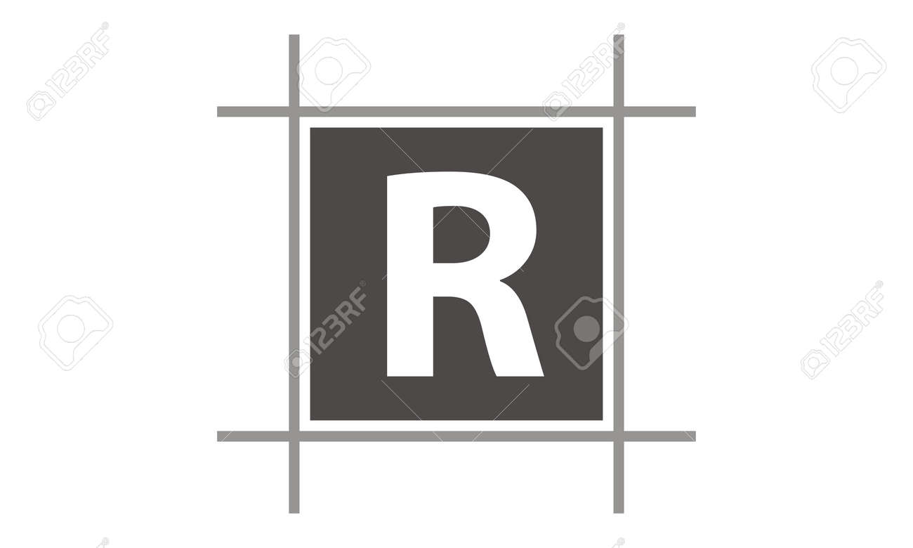 Box Letter R Royalty Free Cliparts, Vectors, And Stock