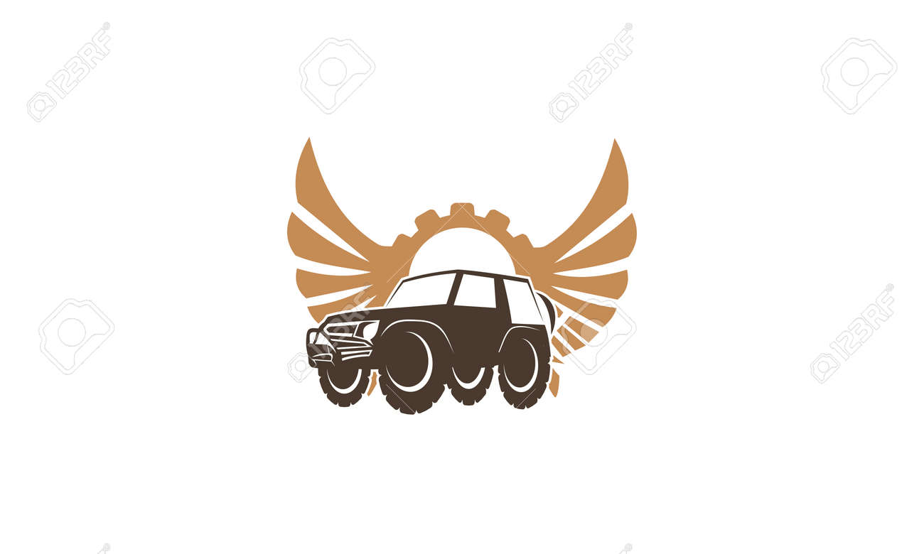 Adventure Car Wing Gear Royalty Free Cliparts Vectors And Stock