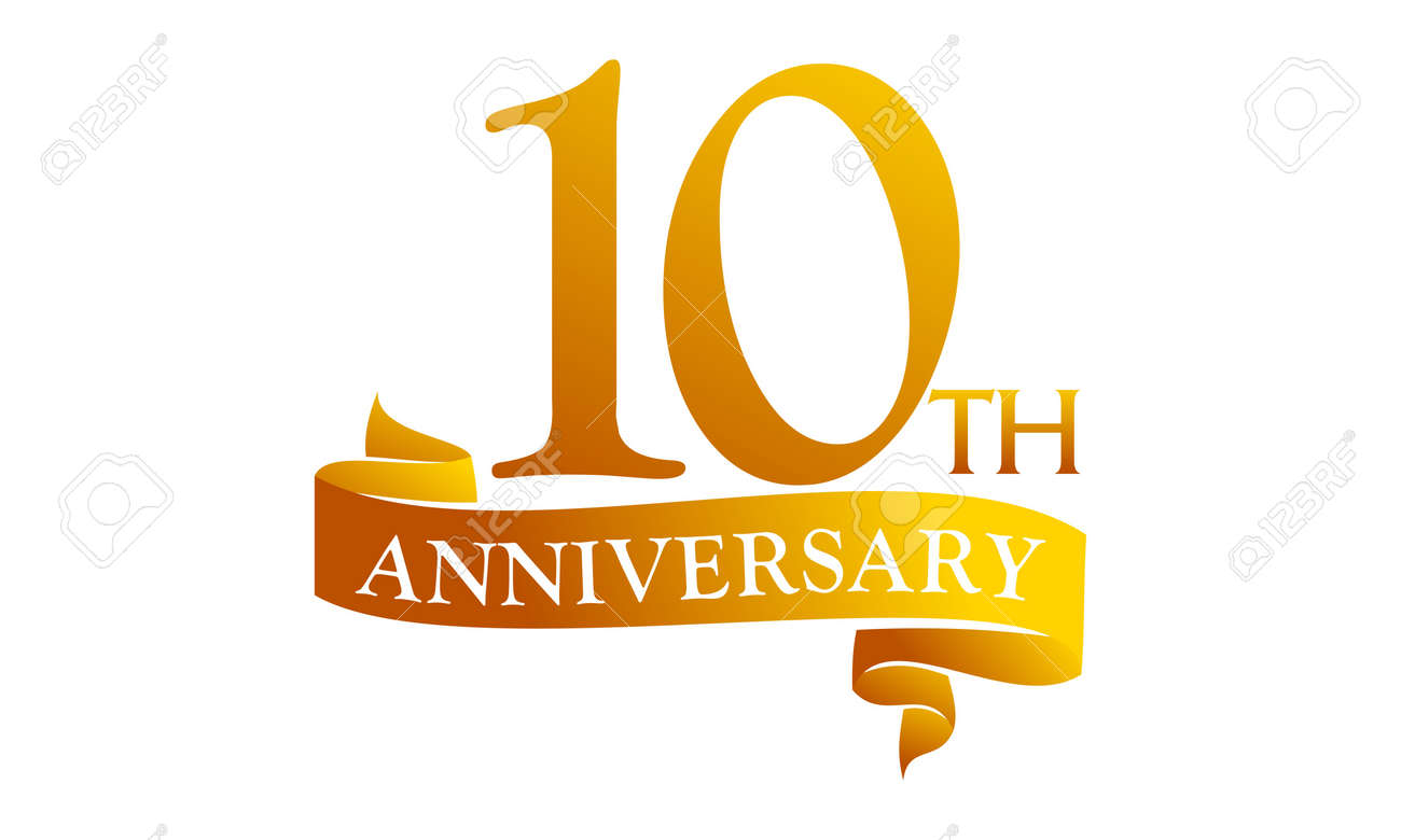 10 Year Ribbon Anniversary - 89824246