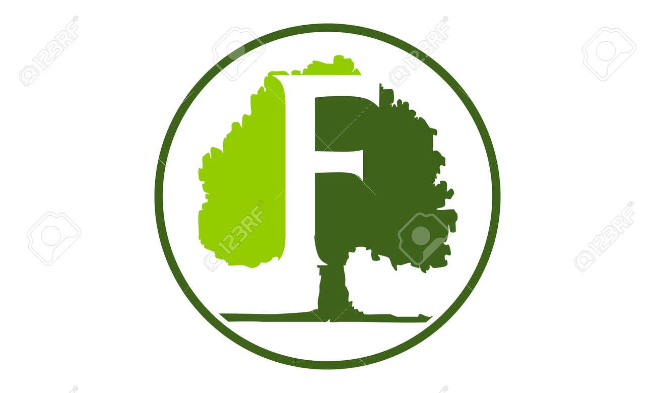 oak tree letter f emblem template royalty free cliparts vectors rh 123rf com