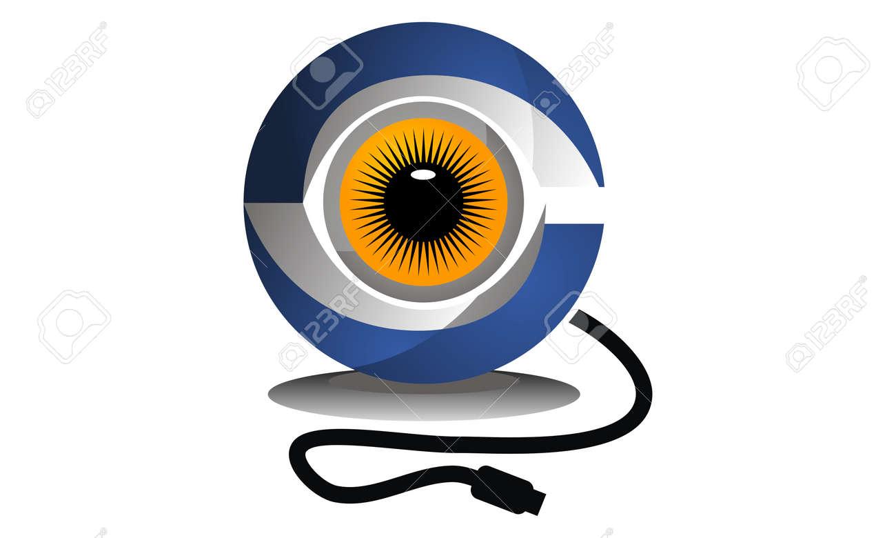 Surveillance Logo Design Template Vector - 90156604