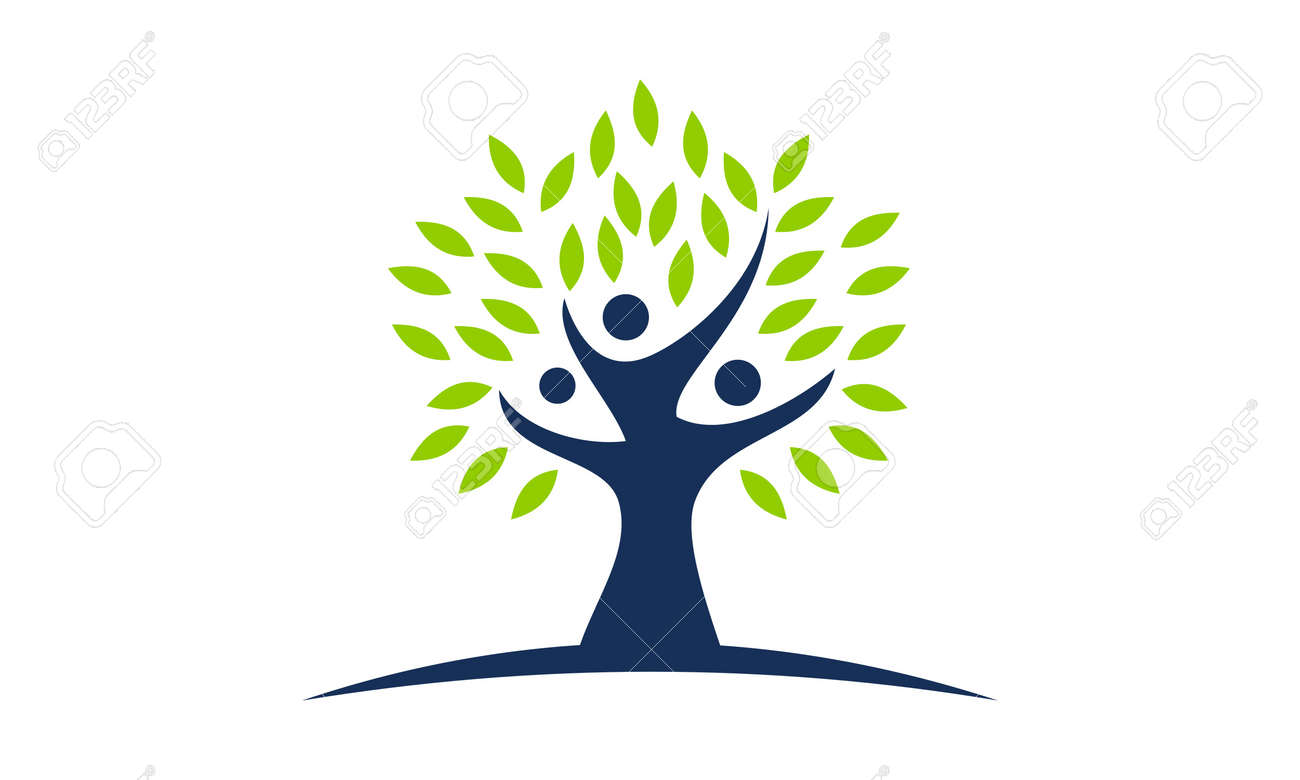 tree of life healing center logo vector illustration royalty free