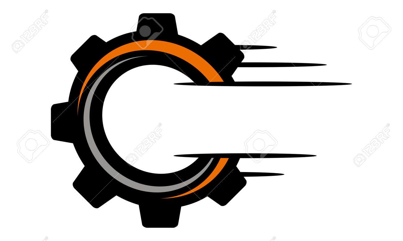 Speed Gear Letter O C Logo Vector illustration. - 90581088