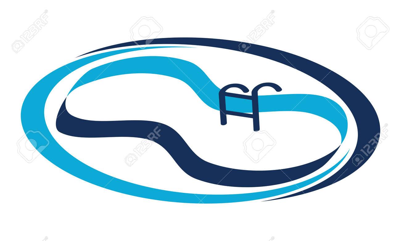 pool service logo. Pool Restoration Service Logo Vector Illustration. Stock - 90581096