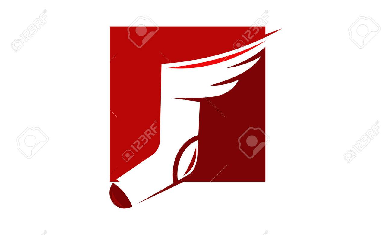 Sock Wing Logo Design Template Vector